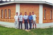 Látogatás a Mariazelli csillagvizsgálóban. 2001.05.26. Balról jobbra: Fritz zoltán, Tuboly Vince, Günther Eder, Horváth Tibor, Dán András