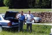 Horváth Tibor és Tuboly Vince a Niederösterreichisches Telescoptreffen-en 2001.05.26.