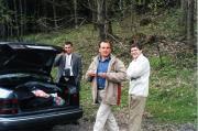 Útban a Niederösterreichisches Telescoptreffenre Balról-jobbra: Hegedüs Balázs, Horváth Tibor, Dr. Zseli József